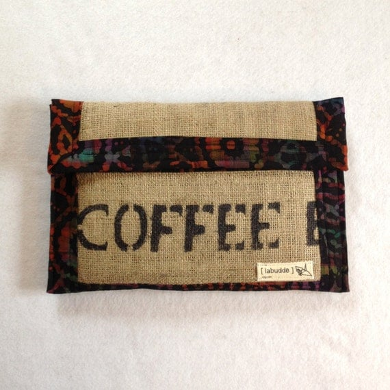 Laptop Case -- 11 inch Macbook Air Case -- Macbook Case -- Coffee Bag Laptop Sleeve -- padded with pocket