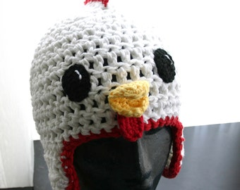 Chicken Hat with Ear Flaps