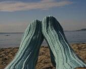 Tube Socks in Aquarium   Knit Socks  size Medium