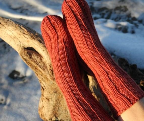 Tube Socks in Rust  size Medium