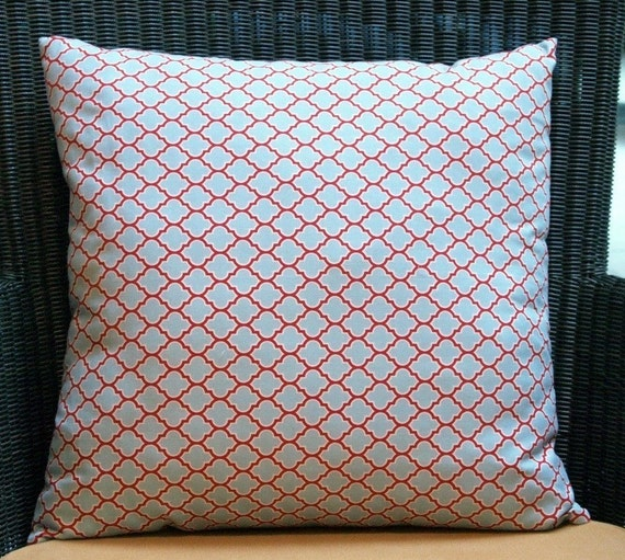 Deer Valley, Lodge Lattice pillow cover 18 inch