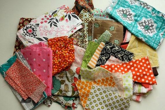 Destash scrap fabric bag