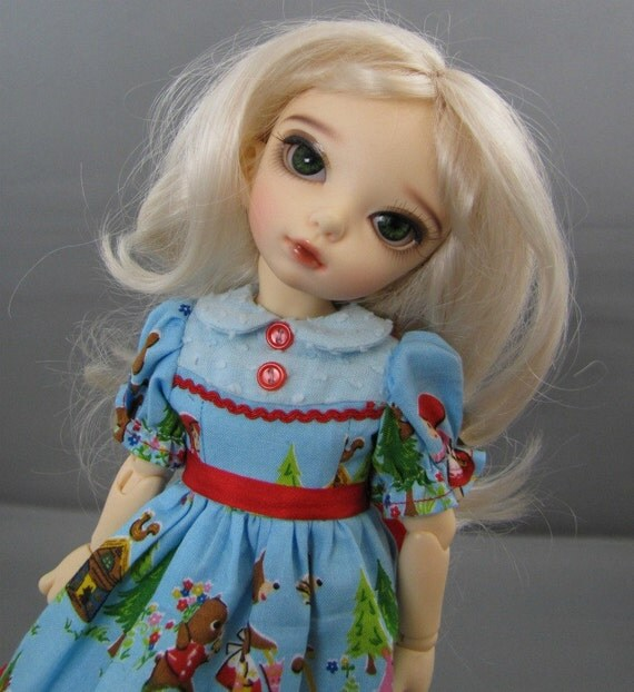 Yosd, Little Fee, Soom Dress, 3 Bears in Red and Blue Outfit