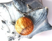 Sale Wood Pendant Necklace Cherry Burl by Hendywood