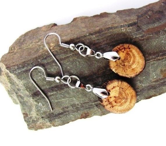 Wood Earrings Reclaimed Driftwood Wooden Eco Friendly Jewelry by Hendywood