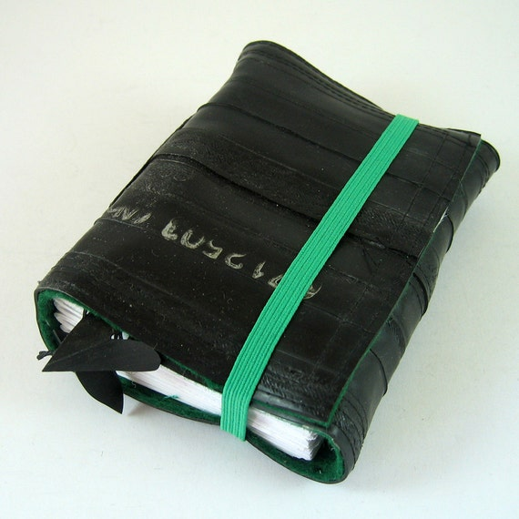 Notebook recycled bicycle inner tube, blank, small.
