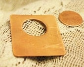 Qty 4  -  Rectangle Copper Blanks w/Circle Cut Outs and  4 Rnd Blanks  -  FREE SHIPPING