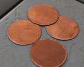 "Qty 4 - 1.25"" Round Copper Blanks - FREE SHIPPING"