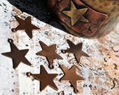 Brass Mini Stars Components... Brass 6 pieces -Free Shipping