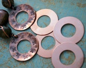 "4 Copper 1"" Round Blanks with Open Center 24g Free SHPG"