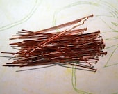 "Qty 50 Copper Head Pins 2"" 22g  -  FREE SHIPPING US"