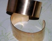 "Qty 2  -  1"" Brass Cuff Bracelet Blank  - FREE SHIPPINGUSA"