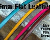 "Flat Leather 5mm  - 24""  -  Free Shipping USA"