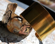 "2 "" Brass Cuff Blank... Brass 1 piece  - Free Shipping"