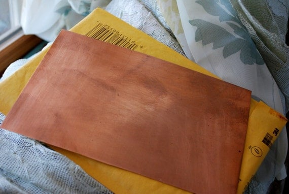"24G Copper sheet  8"" x 5"" FREE SHIPPING"