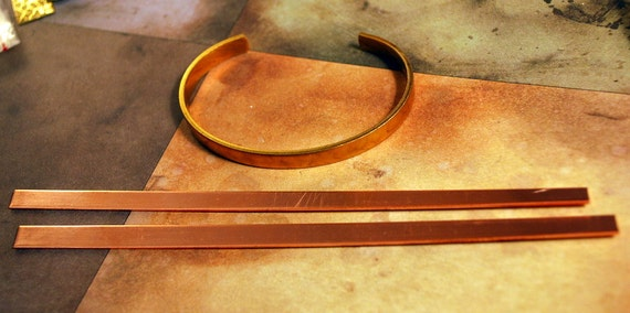 "1/4"" Solid Copper Cuff Bracelet Blank  Qty: 2  - Free Shipping US"