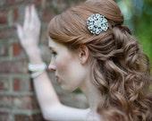 Sparkles and Swirls Silver Rhinestone Bridal Comb
