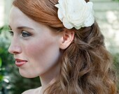 Classic Beauty An Ethereal Handmade Bridal Flower Fascinator in Ivory Or White