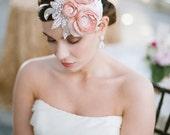 Blush Dupioni Silk Mini Hat with Sparkle As Seen On Style Me Pretty