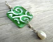 RECYCLED Bright Green with Pearl