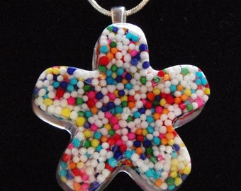 Candy Sprinkles Flower Pendant