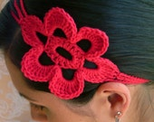 Crocheted Flower Head Band for Adults and Kids