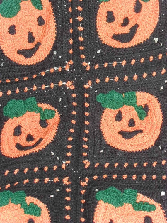 Hand Crocheted Custom Halloween Afghan  Place Your Order Now for October Delivery Keepsake Annual Decoration