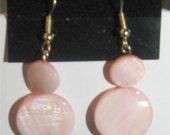 027 - Pink Shell Earrings