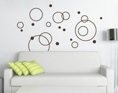 Circles - vinyl wall decals art graphic stickers
