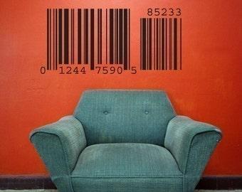 Bar Code - vinyl wall art decals graphic stickers