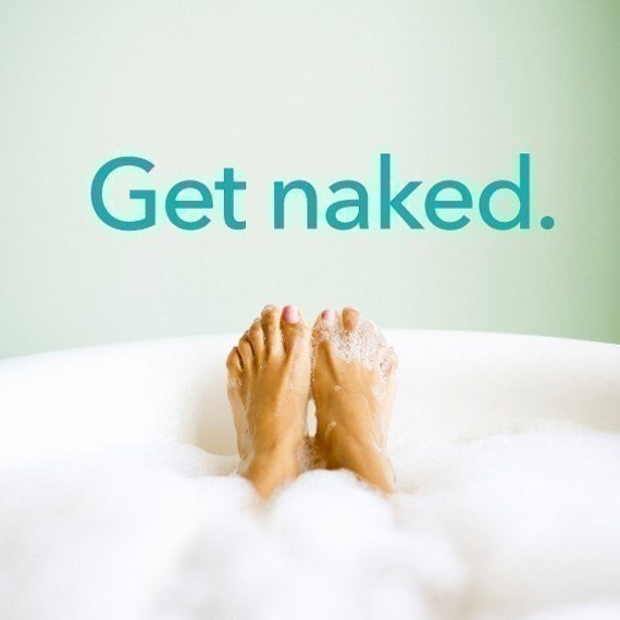 Get naked. - vinyl wall art decal graphic stickers