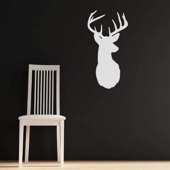 Items similar to deer with antlers vinyl wall art decals for Deer wall decals