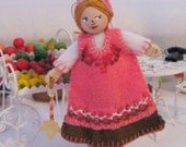 I Will Love You Forever Hanging Ornament Valentine Art Doll Valentine Decoration Dolls and miniatures
