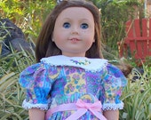 Easter Baskets Doll Dress, Fits American Girl or 18 inch doll, Easter doll dress
