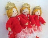 Valentine Art Dolls and Miniatures Receive My Heart, Hanging Ornament, Valentine Decoration