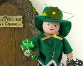 St Patricks Day Decoration // Leslie Leprechaun Art Doll