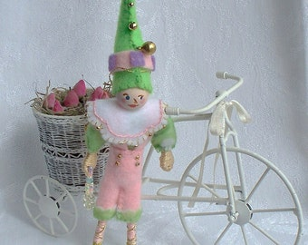 Benjy from the Spring Collection - Hanging Ornament - Felt Art Doll