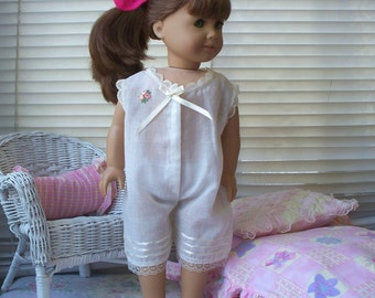 American Girl Doll Clothes One Piece Pijama also fits 18 inch doll