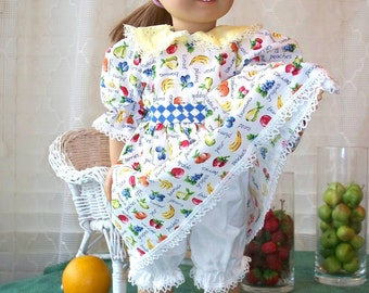 American Girl Clothes, Fruity Summer Doll Dress fits 18 inch doll or American Girl Doll