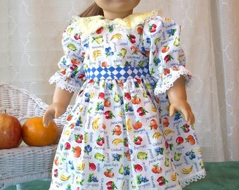Handmade Doll Clothes, Fruity Summer Doll Dress fits 18 inch dolls