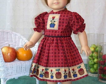Handmade Doll Dress for 18 inch doll My Sundays Best Traditional Dress