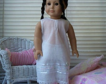 American Girl Doll Clothes Delicate White Night Gown fits American Girl Doll or 18 inch doll