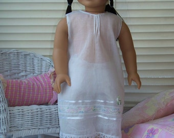 Handmade Doll Clothes Delicate White Night Gown fits 18 inch dolls