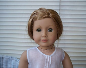 American Girl Doll Clothes Delicate, White Night Gown fits American Girl Doll or 18 inch doll