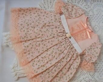 Handmade Doll Dress fits 18 inch dolls Old Fashioned Doll Dress