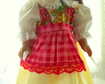 Doll Dress with summer crop, fits 18 inch doll