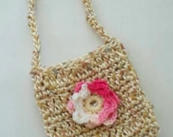 Handmade Crochet School Bag for dolls Fits 18 inch doll