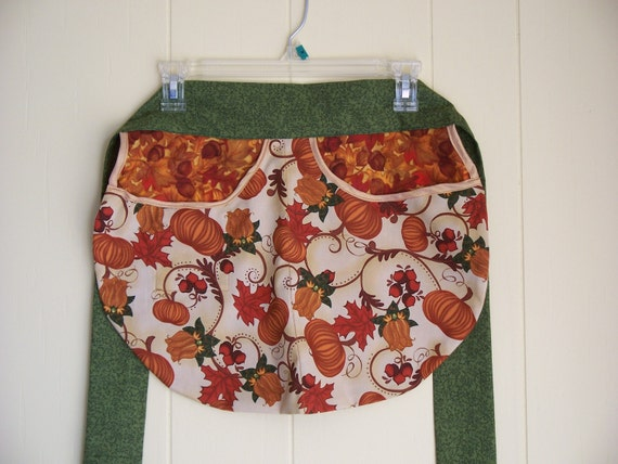 Half Apron - Harvest Bounty hostess apron