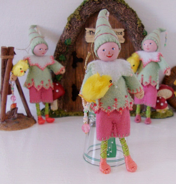 Felt Art Doll - Charlie Piksee - Hanging Ornament - Easter Decorations
