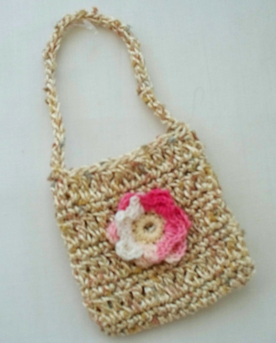 Handmade Crochet School Bag for dolls Fits 18 inch doll